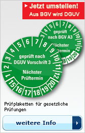 Prüfplaketten nach DGUV