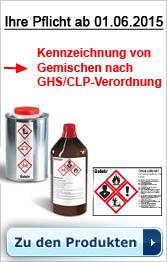Kennzeichnung Ihrer Gemische nach GHS/CLP-Verordnung 2015