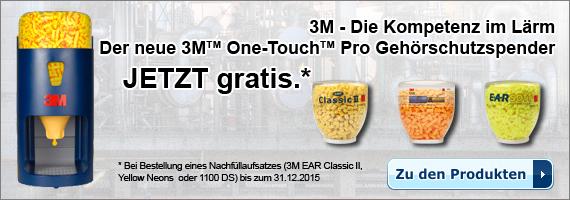 Gratis 3M One-Touch Pro Gehörschutzspender